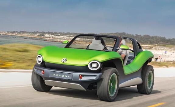 大众的电动车BUGGY概念试用加州沙